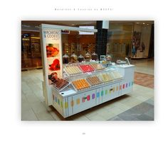 Macarons and Cookies by WOOPS! Now in the Garden State Mall (Westfield Mall). Churros, Macaron Stand, Mall Kiosk, Fish And Chip Shop, Donuts, Food Kiosk, Pastry Design, Bubble Waffle, Bakery Display