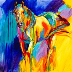 """""""I want to reveal the singular personalities of horses, not just their similarities. The flick of a tail; the calm, discerning gaze; alert ears—these are all things that can distinguish one horse from another. SMOOTH MOVES is modeled after my horse Hank; he's confident, friendly, and has the moves down pat."""" ~ Pippin Meikle Fine Art, Santa Fe, NM; www.barbmeikle.com."""