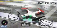 RC Quadrocopter Rayline R90C 2.4 GHz 4-Kanal 6-Achsen Drohne