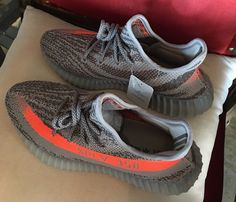 2016 best replica Yeezy 550 Boost SPLY 350 Gray Orange review