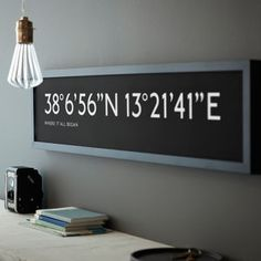 Personalised Bus Blind Coordinates Print - gifts for him