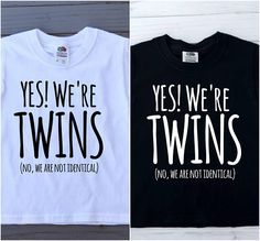 Kids twin shirt set of two twins shirt yes were twins (no we are not identical) kids shirt toddler shirt funny shirt funny quote - Bestie Shirts - Ideas of Bestie Shirts - Bff Shirts, Funny Kids Shirts, Shirts With Sayings, Cute Shirts, Sibling Shirts, Bff Sweatshirts, Friends Shirts, Teen Shirts, Awesome Shirts