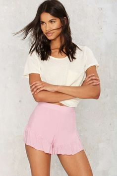 Sweet Like Candy Ruffle Shorts | Shop Clothes at Nasty Gal!