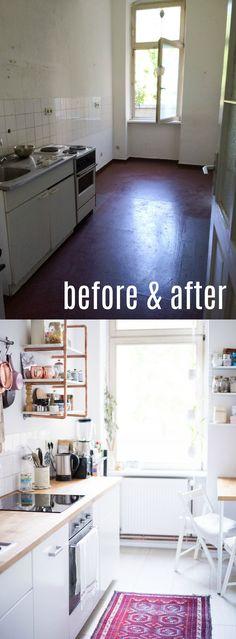 at\/least Kleine Räume einrichten 5 Tricks für die Mini-Küche - dunstabzugshaube kleine küche