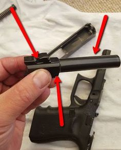 Where to lube the glock barrel