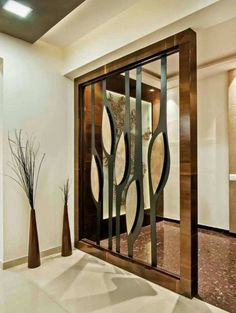 45 Brilliant Partition Wall Design Ideas To Blow You Away - Engineering Discoveries Living Room Divider, Diy Room Divider, Room Dividers, Living Room Partition Design, Room Partition Designs, Partition Ideas, Wood Partition, Divider Design, Divider Ideas