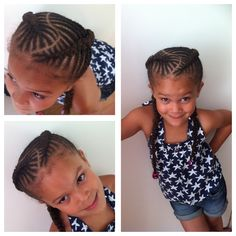Fishbone braids, cornrows for girls, natural hair