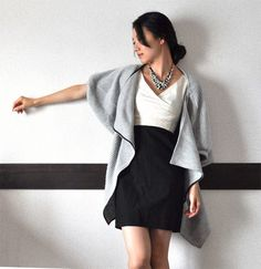 love this sweater by Chie (and her whole look!)- made from three pieces of fabric