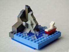 micro lego boat and sea