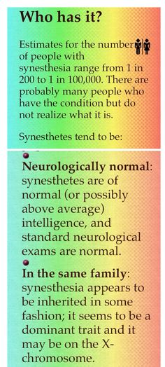 Who has Synaesthesia - #2