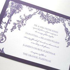5 Baroque Rococo Wedding Invitatios (Ref 5) £7.50