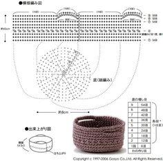 코바늘 미니 바구니뜨기 책상 위, 식탁 위에서 예쁘게 정리 할 수 있는 미니 코바늘 바구니...... Crochet Bowl, Crochet Basket Pattern, Crochet Chart, Crochet Granny, Crochet Stitches, Knit Crochet, Crochet Patterns, Patron Crochet, Crochet Storage
