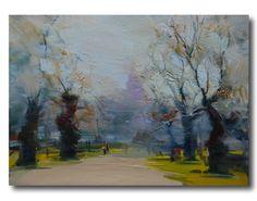 Wonderfu Autumn Oil Painting Landscape Fall Canvas Art by PysarArt