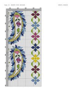 Cross Stitch Borders, Cross Stitch Designs, Cross Stitching, Cross Stitch Patterns, Ribbon Embroidery, Cross Stitch Embroidery, Embroidery Patterns, Cross Stitch Cushion, Palestinian Embroidery
