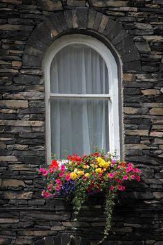 Cumbrian Colour  Colourful window display seen in Cumbria, England, UK.