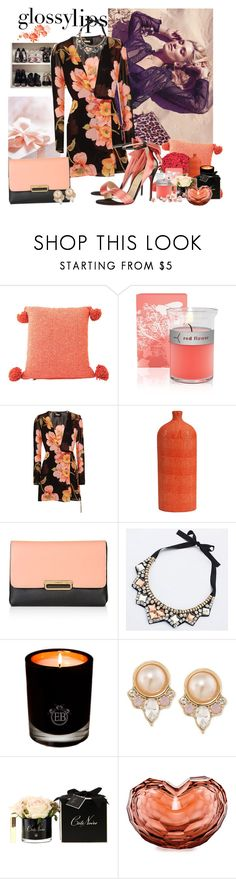 """Two colors look"" by moni4e ❤ liked on Polyvore featuring Miu Miu, Elizabeth Roberts, red flower, Reformation, Topshop, EB Florals, Carolee and Moser"