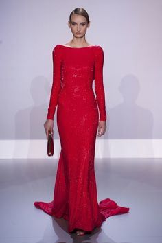 Ralph & Russo Haute Couture Spring 2014: We do know Kate loves long-sleeved gowns.