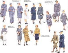 Women at the service in wwii 5 by FVSJ.deviantart.com on @deviantART