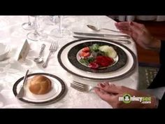 Basic Dining Etiquette - The Salad Course - YouTube