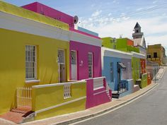 Cape Town, South Africa, Travel inspiration - Bo Kaap - a colourful and vibrant district of Cape Town with tons of History - a must see Oh The Places You'll Go, Places To Visit, Beautiful Streets, Simply Beautiful, African Life, Cape Town South Africa, Travel Inspiration, Travel Ideas, Travel List