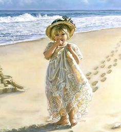 Footprints in the Sand by Sandra Kuck.  Wish I could paint this great!