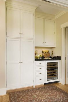 Traditional White Kitchen Cabinets #06 (Crown-Point.com, Kitchen-Design-Ideas.org)