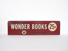 Vintage Sign - Book Store Display Sign - Children's Books - Nursery Children's Room Decor - Wall Hanging - Library Decor - Photo Prop by HappyFortuneVintage on Etsy https://www.etsy.com/listing/225812875/vintage-sign-book-store-display-sign