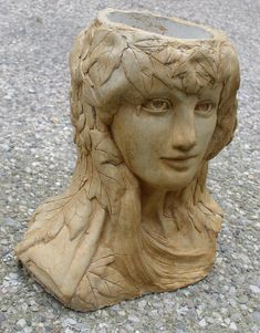 Mother Nature Head Planter. $100.00, via Etsy.