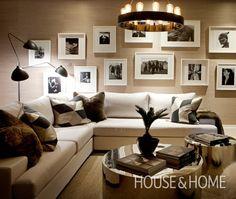 Black, white and cream. Luxurious Basement | Designer Nam Dang
