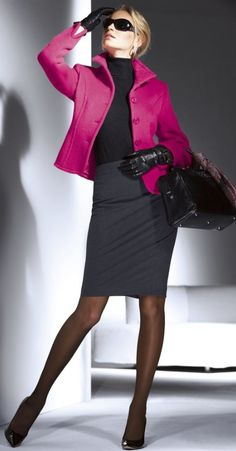 Pink and Grey style - love the short jacket; I have the fabric and must make similar