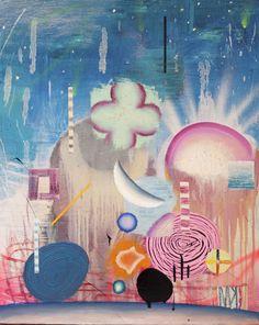 Matías Krahn. Del cielo nacen, al cielo vuelven. Óleo sobre tela, 81x65 cm, 2012.