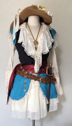SALE Adult Pirate Halloween Costume by PassionFlowerVintage