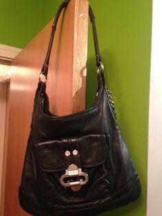 Womens/Girls Black Genuine Leather Shoulder Bag  #Unbranded