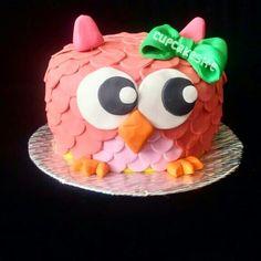 Owl cake  Torta buho  @Cupcakesite