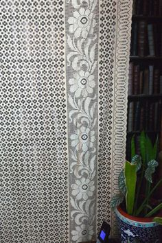 Art Silk Rayon gold vintage c 1930s lace panels by Chateaufelicien