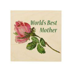 World's Best Mom Rose Flower Art