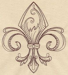 Vintage Fleur de Lis | Urban Threads: Unique and Awesome Embroidery Designs