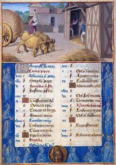Jean Poyer August: Threshing Hours of Henry VIII, in Latin Illuminated by Jean Poyer France, Tours ca. 1500 256 x 180 mm The Dannie and Hettie Heineman Collection; deposited in 1962, given in 1977 MS H.8 (fol. 4v)