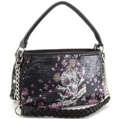 3b43580d12c8 Ed Hardy Treasure Chest Agnes Hobo Bag – Black