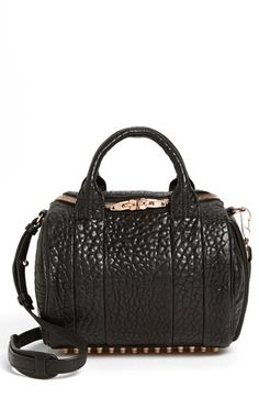 Alexander+Wang+'Rockie+-+Rose+Gold'+Leather+Crossbody+Satchel+available+at+#Nordstrom