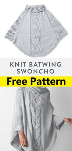 Poncho Knitting Patterns, Christmas Knitting Patterns, Knitted Poncho, Easy Knitting, Knitted Shawls, Loom Knitting, Knitting Stitches, Patons Classic Wool, Knitwear