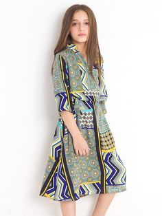 24752bd897d Geometric Patterned Comfy Long Dress for  35.99 only - Strawbie Collections