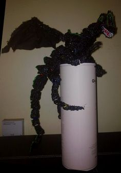 Dragon in ABS .Ball joints and eyes are beads