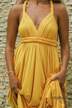 Whitestory & Friends own wrap dress in yellow w/ separate top. Perfect as a bridesmaid dress. Shipping worldwide Tailor Scissors, Yellow Dress, Suits You, Body Shapes, Different Styles, Style Guides, Separate, Wrap Dress, Bridesmaid Dresses