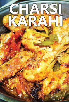 Charsi Karahi - Peshawari Chicken Karahi Recipe of Namak Mandi (Video) #karahi #chickenkarahi #pakistani #peshawar Pakistani Chicken Recipes, Indian Food Recipes, Vegan Recipes, Cooking Recipes, Karahi Recipe, Chicken Karahi, Indian Kitchen, Fusion Food, Food Court