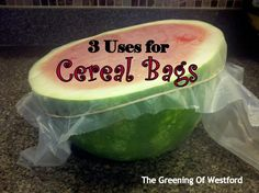 Reusing plastic bags (liners) from cereal | ecogreenlove ••• Visit the post for more!