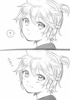 Rin E Len, Kagamine Rin And Len, Manga Anime, Anime Art, Cute Chibi, Anime Sketch, Hatsune Miku, Anime Love, Kawaii Anime