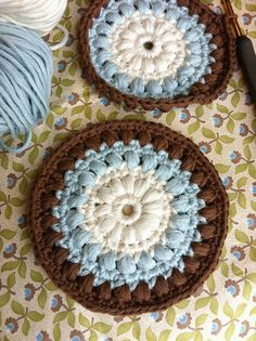 crochet, love this color combo!