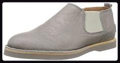 Shabbies Amsterdam low chelsea shoe matching Norfolk flat sole, Damen Chelsea Boots, Grau (Perla), 40 EU - Stiefel für frauen (*Partner-Link)