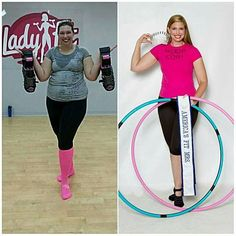 Cori M, a mom with acute hypothyroidism lost over 85 pounds and transformed her life with hula hooping and now inspires others to fitness success